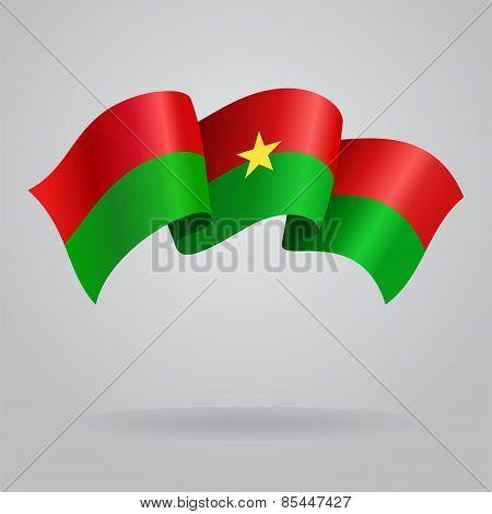 Burkina Faso waving Flag. Vector illustration