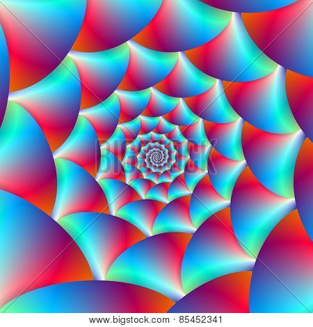 Spiral In Blue And Red