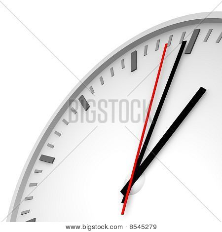 Clock with one red hand