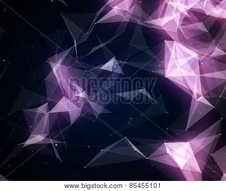 Abstract Violet Triangle Particles