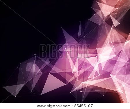 Abstract Pink Triangle Particles