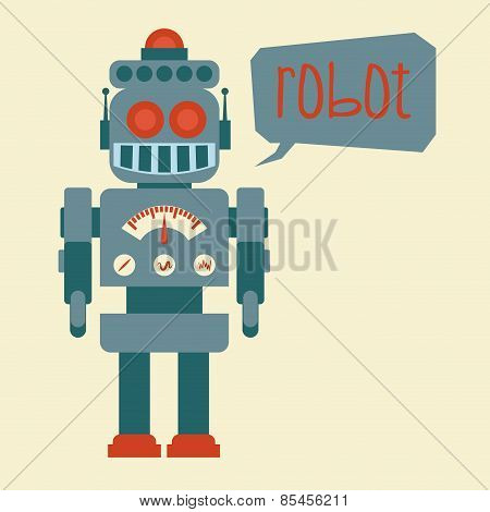 robot design over beige background vector illustration