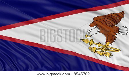 Flag Of American Samoa (clipping path included)