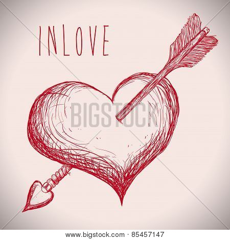 love design over  gray background vector illustration