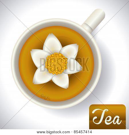 tea design over gray background vector illustration