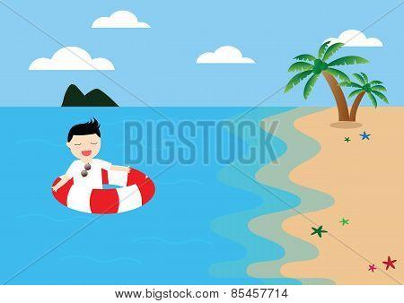 Businessman Relaxing Concept