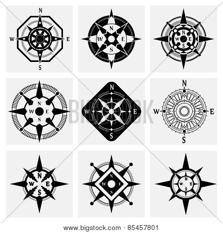 Compass Icons Set