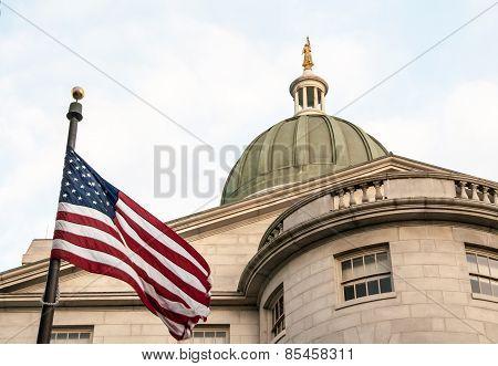 usa flag waving
