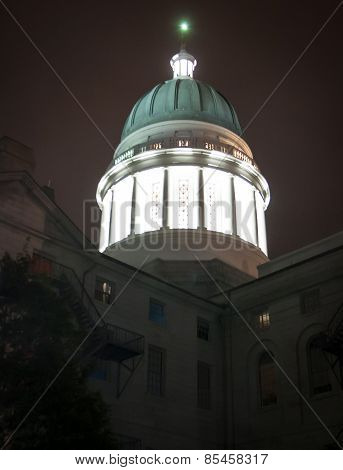 state capitol augusta at night
