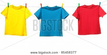Colorful shirts