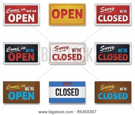 Open and Close Sign Collection
