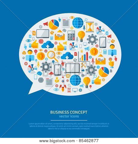 Business Strategy Plan Concept Idea.