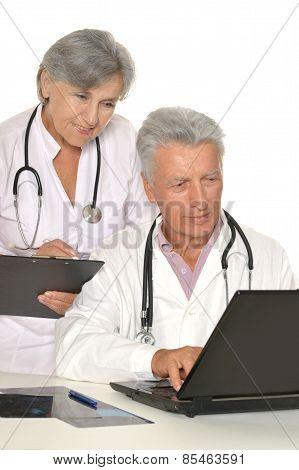 Doctors in white coats