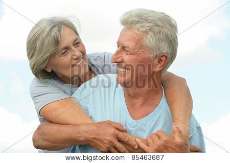 Elderly couple relaxing