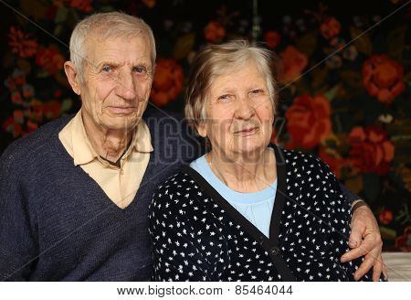 Portrait Of Grandparents At Home