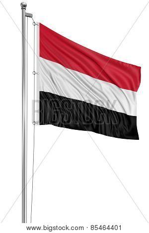3D Flag of Yemen