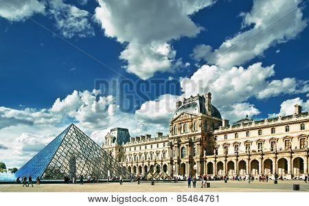 View Of Louvre Building In Louvre Museum.