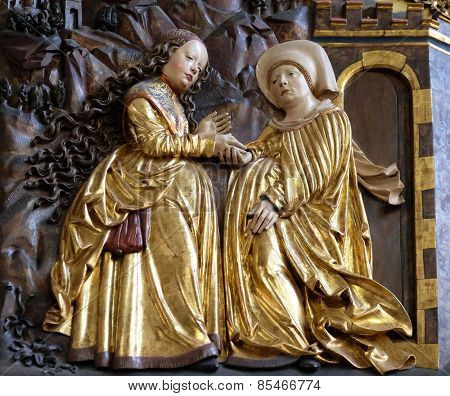 HALLSTATT, AUSTRIA - DECEMBER 13: Visitation of the Virgin Mary, Maria am Berg church on December 13, 2014 in Hallstatt, Austria.