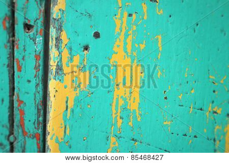 Rusty Colored Metal With Cracked Paint Background