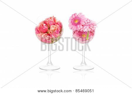 Flower Decoration In Glasses