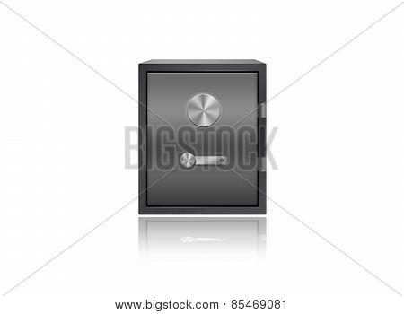 Safe Box Isolated On White