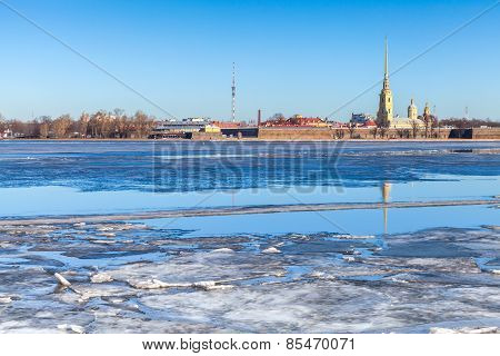 Peter And Paul Fortress In Saint-petersburg, Russia