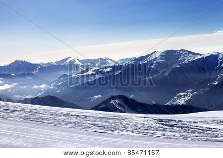 Ski Slope In Morning