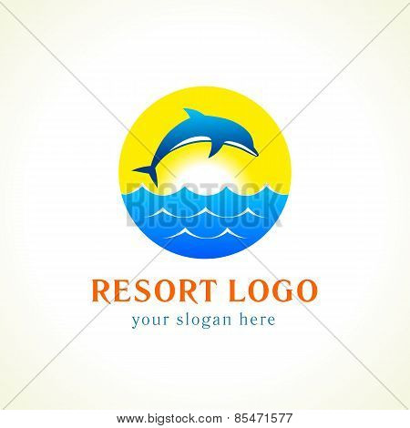 Dolphin sea waves resort logo