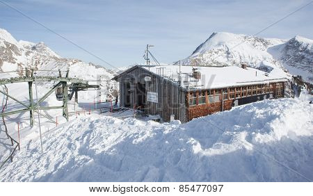 Cable Car Station On The Jenner Mountain