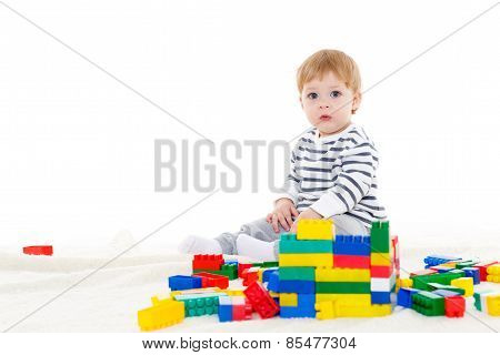 Little Baby With Educational Toys.