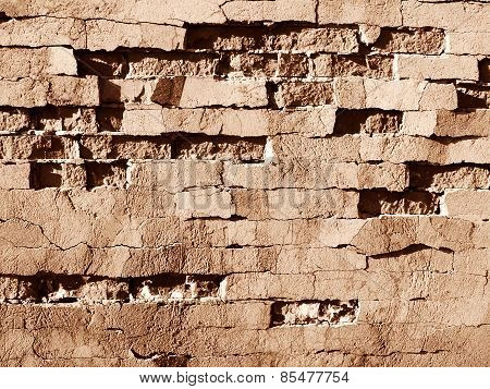 Sepia Brick Wall background