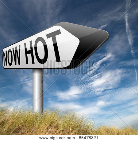 now hot item product or price latest breaking news and now new trending road sign