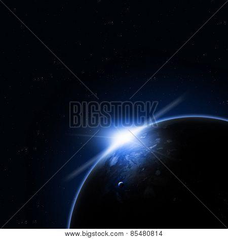 Solar Blue Eclipse