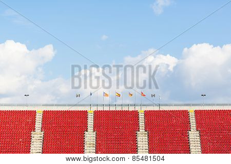 empty seats in a football stadium
