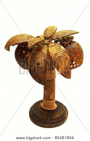 lamp From The Fruit Of Coconut