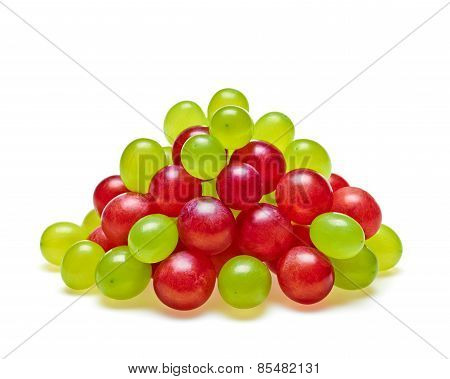 Ripe Red And Green Grapes Pyramid Concept Of Freshness And Healt