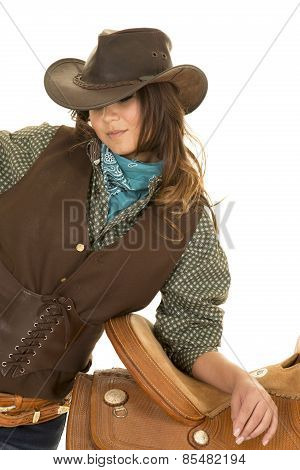 Cowgirl Lean On Saddle Brown Vest