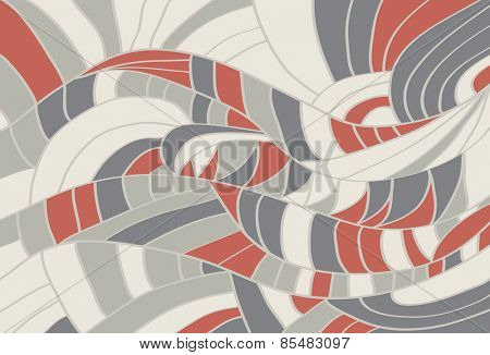 Abstract retro background with waves Vector illustration