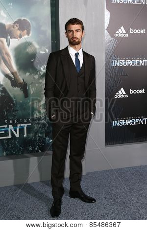 NEW YORK-MAR 16: Actor Theo James attends the U.S. premiere of