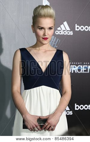 NEW YORK-MAR 16: Novelist Veronica Roth attends the U.S. premiere of