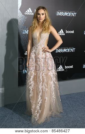 NEW YORK-MAR 16: Model Suki Waterhouse attends the U.S. premiere of