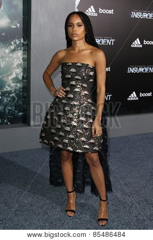 NEW YORK-MAR 16: Actress Zoe Kravitz attends the U.S. premiere of