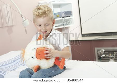 Boy Relaxing in pediatric hospital