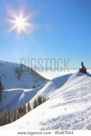 Wallberg Chapel In Winter Landscape
