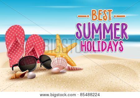 Summer Holidays in Beach Seashore
