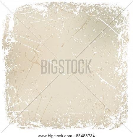 white rough grungy frame for design. vector illustration