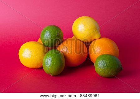 Citrus, lime, lemon, orange stock picture