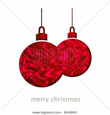 Christmas Card With Baubles Shape Illustration