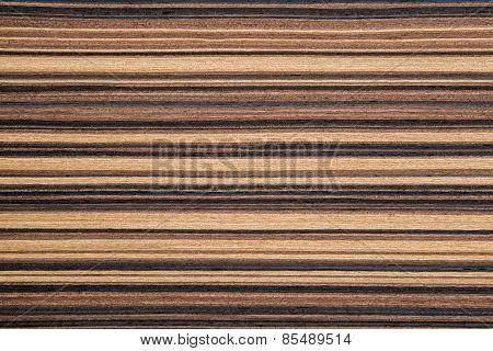 Wood zebrano mosaic