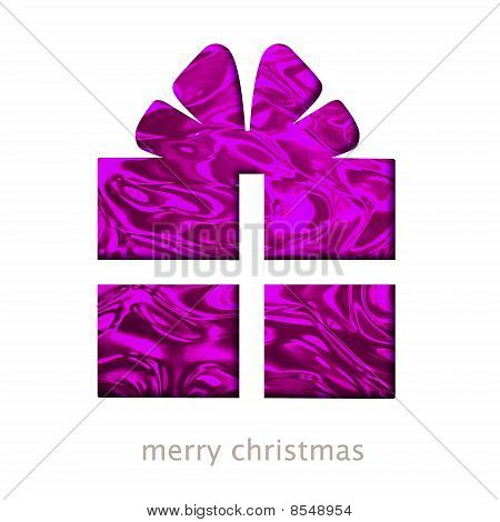 Christmas Card With Gift Shape Illustration